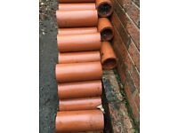 Clay Drainage Pipes (100 ) Unused Size 300mm x 100mm Excellent Condition Collect from Central York