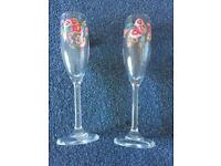 """Cath Kidston """"Daisy Bunch"""" champagne flutes"""