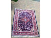 Gorgeous huge red blue and cream rug
