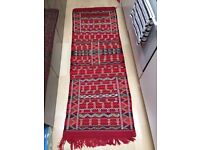 Beautiful red Moroccan runner rug, measuring 160x40 (hardly used and in new clean condition)