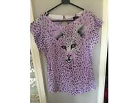 Offers accepted. Pretty purple top Animal Print bnwt