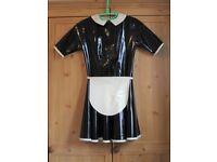 New Latex Maid Dress