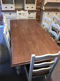 1.4m extending farmhouse dining table