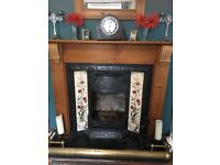 Cast iron Victorian style fireplace