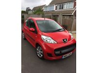 40000 MILES ONLY. 2010 PEUGEOT 107 URBAN LITE 1.0 PETROL. £20 ROAD TAX. ECONOMICAL