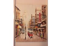 Oil Painting of Hong Kong Streets
