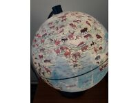 Large Animal Planet Stella Nova Globe for Nursery/Kids bedroom lamp