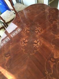 Antique Italian dining table and chairs