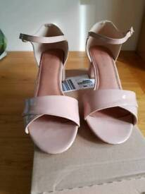 Nude Wide Fit Sandal Size 7