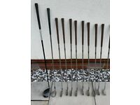 Full set of right-handed Mizuno irons golf clubs