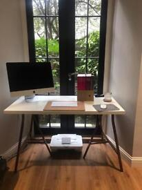 Ikea trestle table top and separate legs, desk