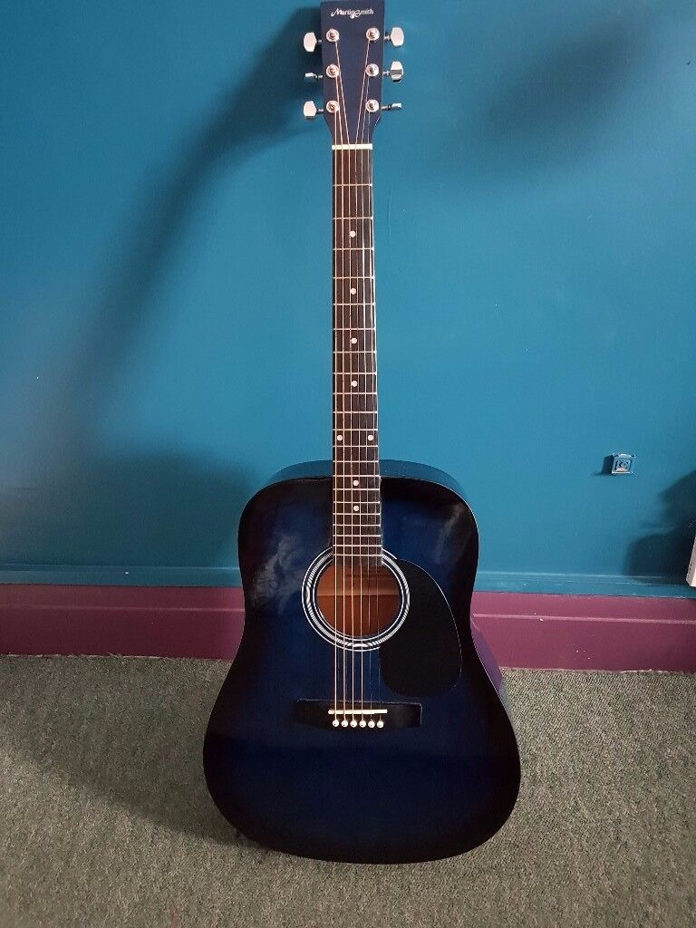 Martin Smith Midnight Blue Acoustic Guitar
