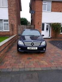 Mercedes c200 estate blue efficiency auto sport