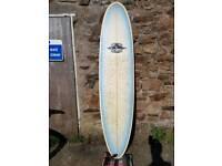 7'4 custom minimal surfboard