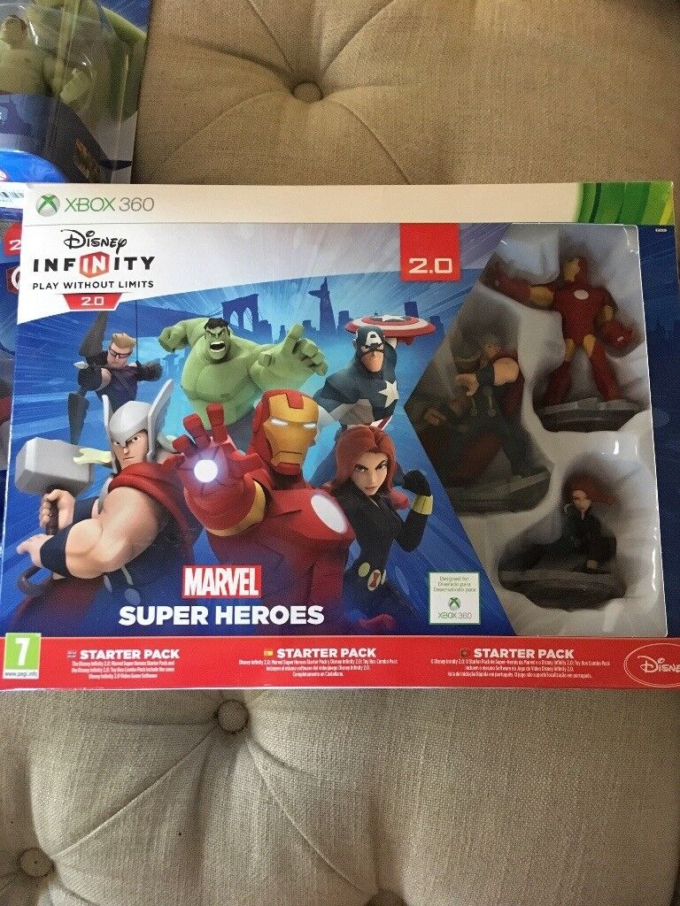 Disney Infinity Super Hero Starter pack with extra Hulk & Captain America figures for XBox 360