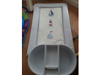 baby changing mat and top and tail bowl