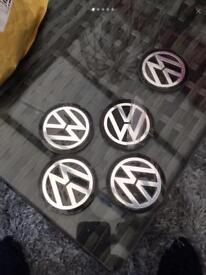 BMW AND VW ALLOY CENTRE CAPS 60 mm STICKY BACKED FOR EASY FITTING RETAIL AT £18
