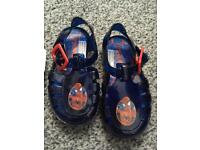 Spider man babies jelly shoe size 4