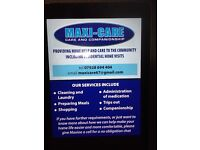 Maxi-Care, Care and Companionship. Home help and Care in the Community.