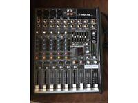 Mackie 8 channel mixing desk.