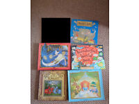 5 books pop up alice in wonderland, peter pan, noah's ark, knight