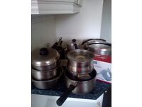 pots pans tins and pressure cookers