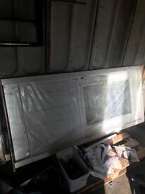 Solid wood door in frame brand new
