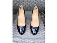 Ladies Christian Louboutin Black Heels, Size 36.5 (UK 3.5)