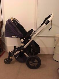 Used Navy Blue Bugaboo Frog - Pram with carrycot and pram seat & lots of extras