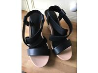 Black, cream and tan wedge by Next