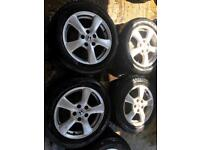 "16"" GENUINE HONDA CIVIC ACCORD ALLOY WHEELS SET OF 4 WITH TYRES"