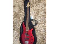 Yamaha electric bass RED