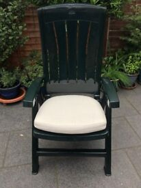 2 Cream Garden Chair Cushion Pads