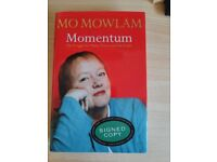 MOMENTUM: THE STRUGGLE FOR PEACE, POLITICS AND THE PEOPLE BY MO MOWLAM (SIGNED)
