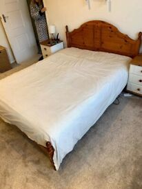 King size double bed frame and headboard