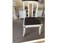 Marble veneer chairs
