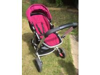 Mothercare Xpedior travel system - 3 wheel pram/ pushchair and car seat