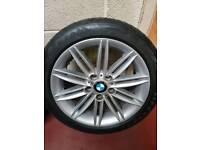 "Bmw genuine M sport 17"" wheels with tyres"