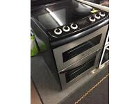 Zanussi black and silver 600 ceramic top cooker
