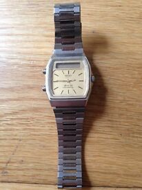 Mens Seiko Watch Gold Face 32mm (Offers welcome)