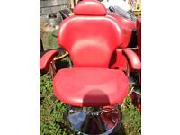 Red Barbering Chair.