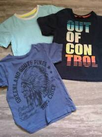 Boys tshirt bundle. Age 7