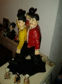 Laurel and Hardy Figurine. 15-16 inch.