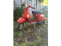 Vespa LML mallosi scooter, 128 genuine miles from new