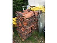 Large quantity of old roof tiles and some ridge tiles