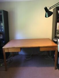 Large Antique Hardwood Desk