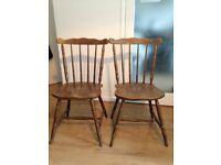 PAIR of vintage Farmhouse chair wood