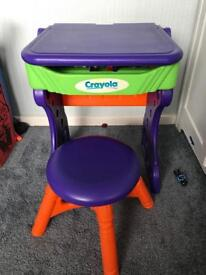 CRAYOLA MY FIRST DESK STOOL MAGNETIC SIDE