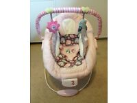 Bright Starts Comfort And Harmony Baby Bouncer Chair Pink