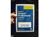 Nuance Dragon Professional Individual Speech Regonition Version 15 ACADEMIC